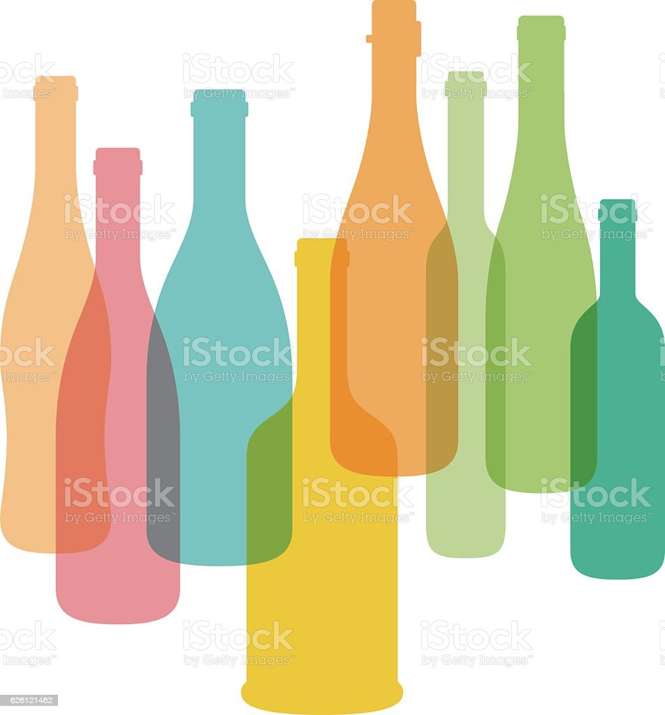 Wine bottle illustration. Vector. vector art illustration