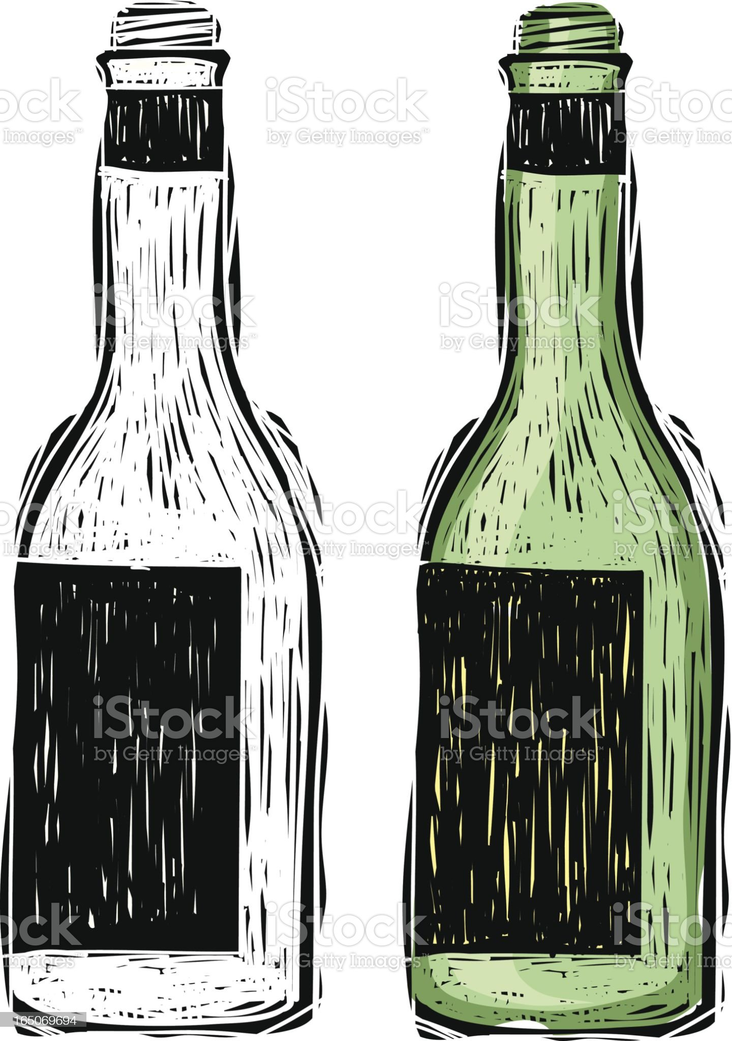 Wine Bottle royalty-free stock vector art