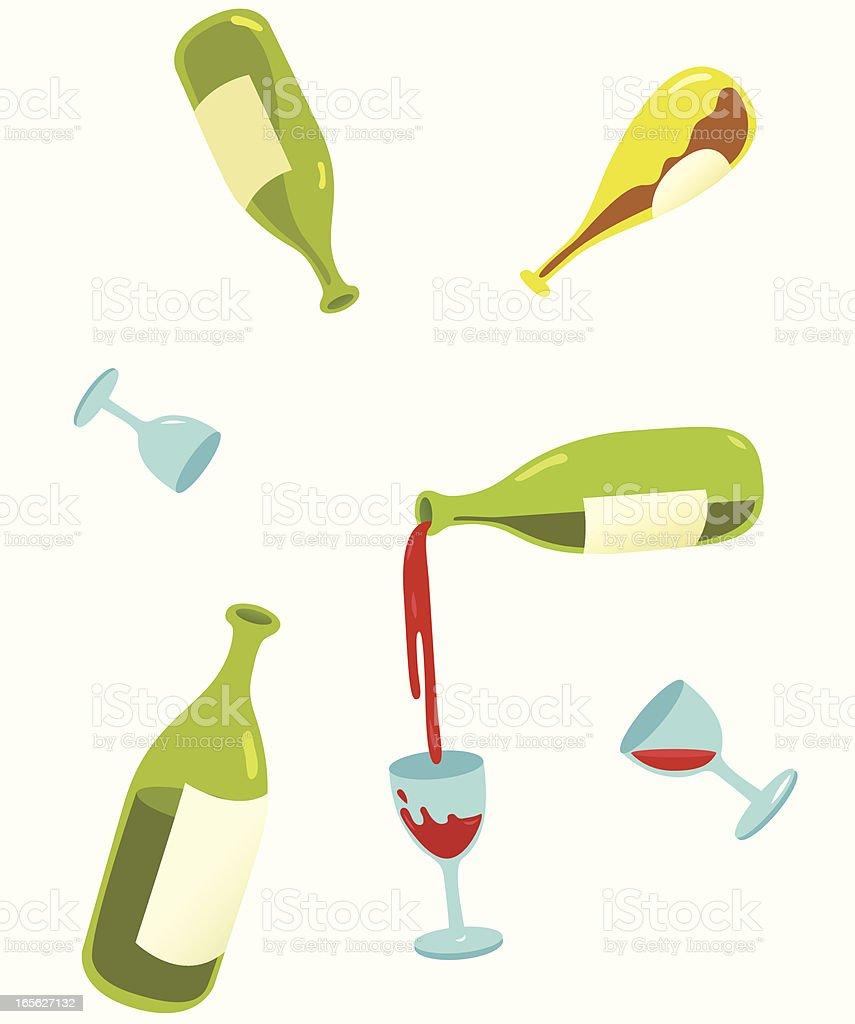 Wine Bottles royalty-free stock vector art