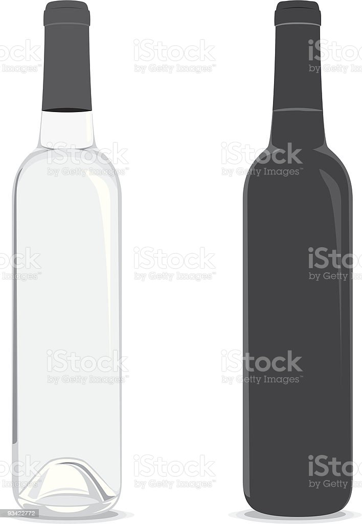 Wine Bottles royalty-free stock vector art