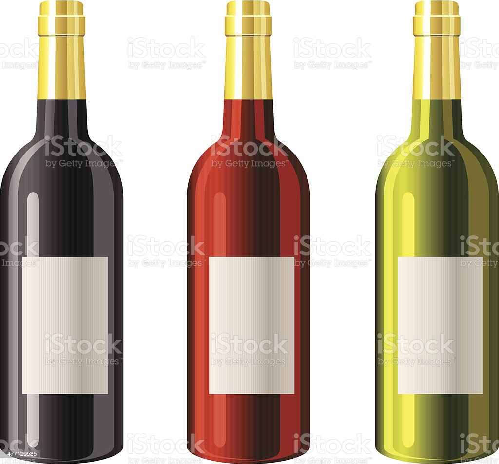 Wine bottles - VECTOR royalty-free stock vector art