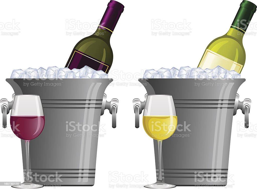 Wine bucket royalty-free stock vector art