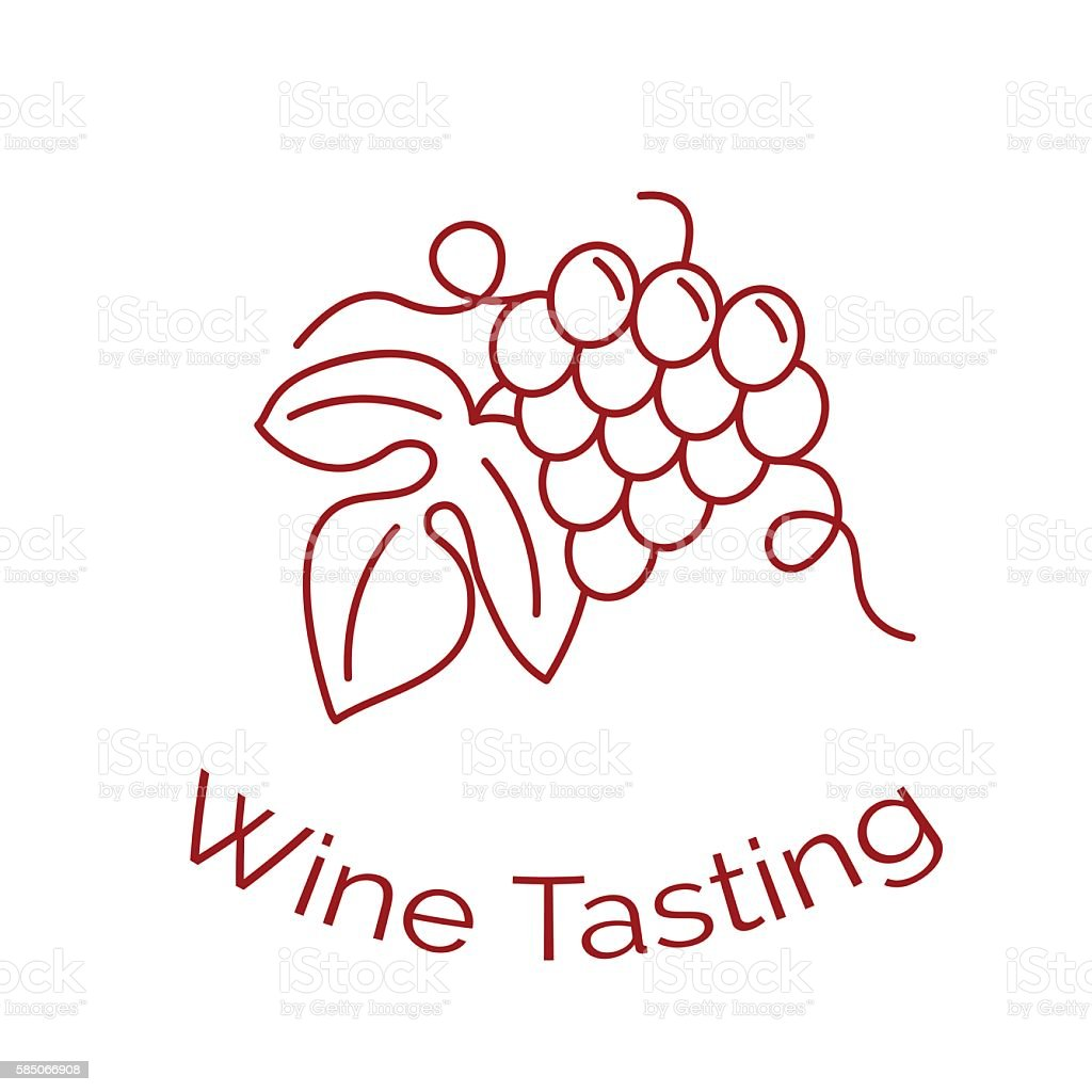 Wine business vector template. vector art illustration