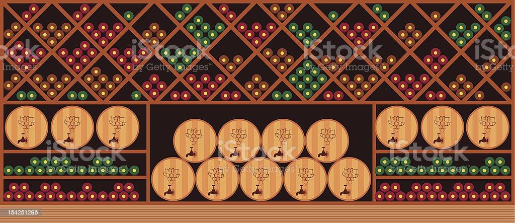 Wine cellar royalty-free stock vector art