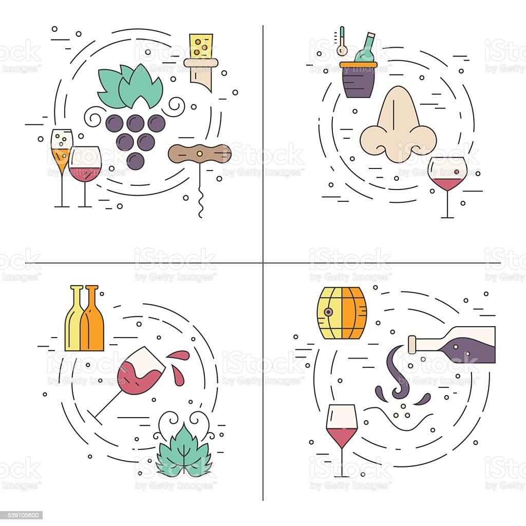 Wine Concept vector art illustration
