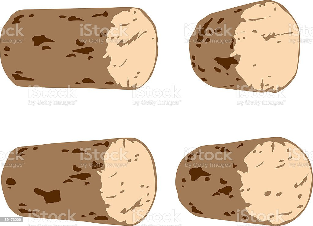Wine Corks vector art illustration