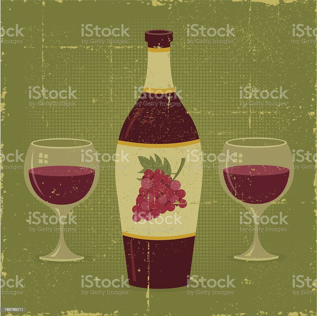 Wine for Two royalty-free stock vector art