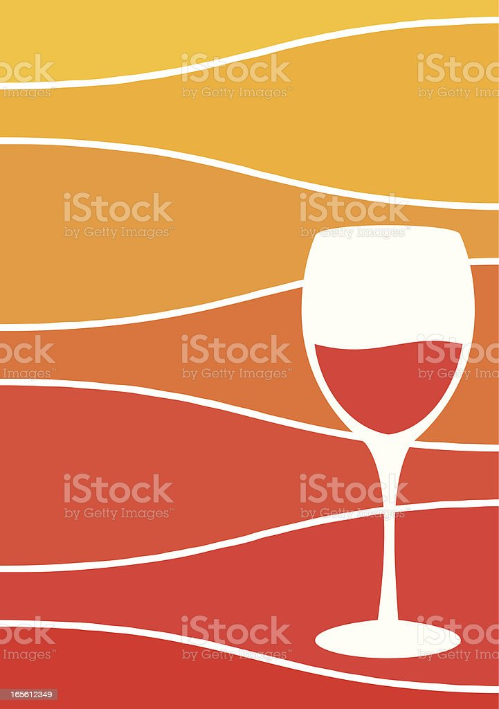 Wine Glass and Bottles royalty-free stock vector art