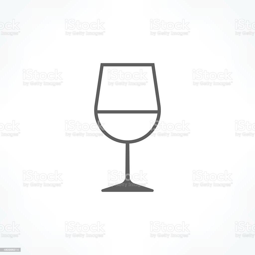 wine glass icon vector art illustration