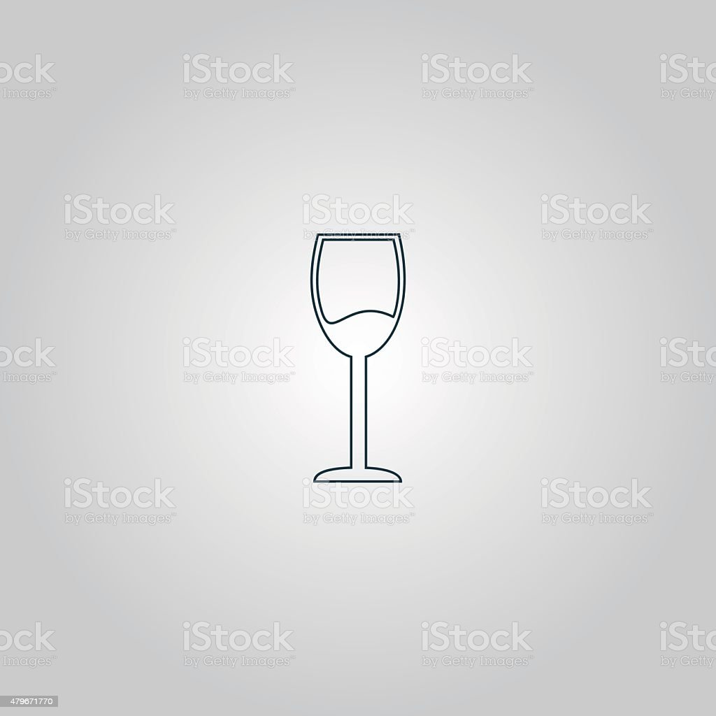 Wine glass vector icon. Alcohol drink symbol vector art illustration