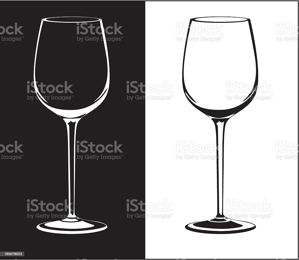 wine glass vector art illustration