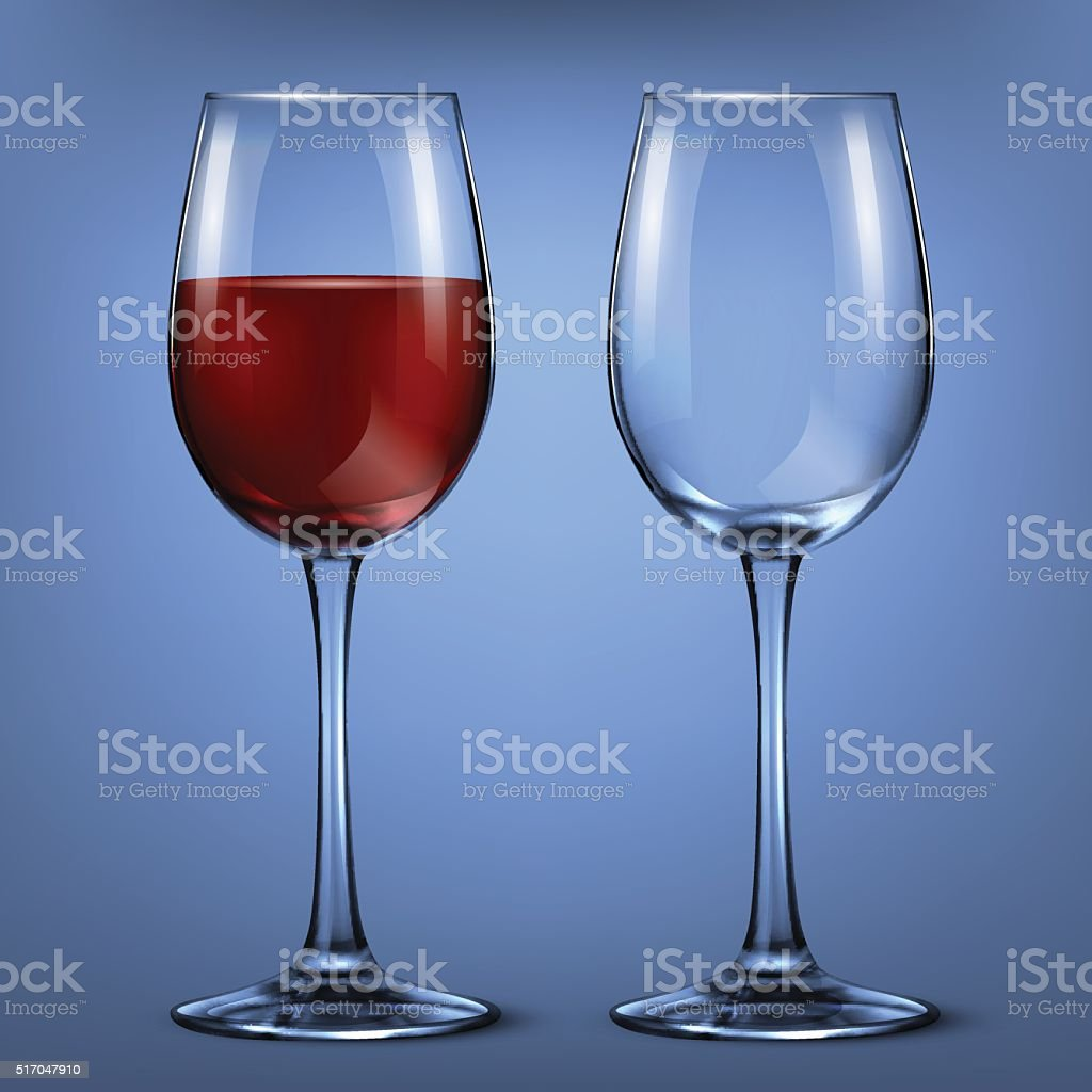 wine glass vector art illustration