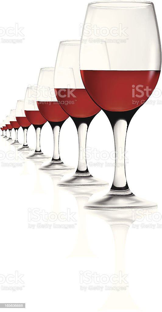 Wine glasses royalty-free stock vector art