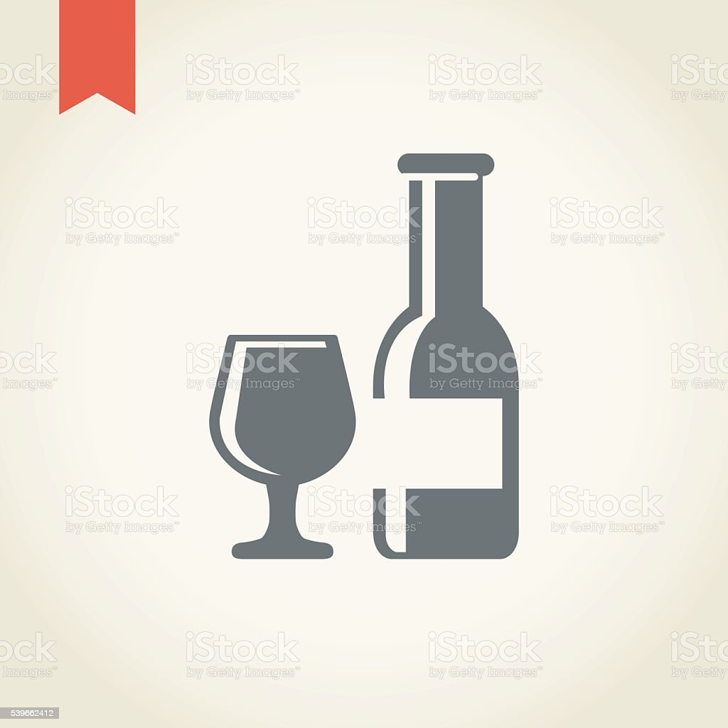 Wine icon vector art illustration