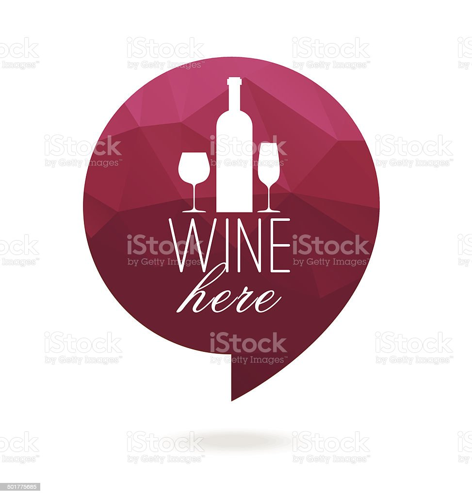 wine icone vector art illustration