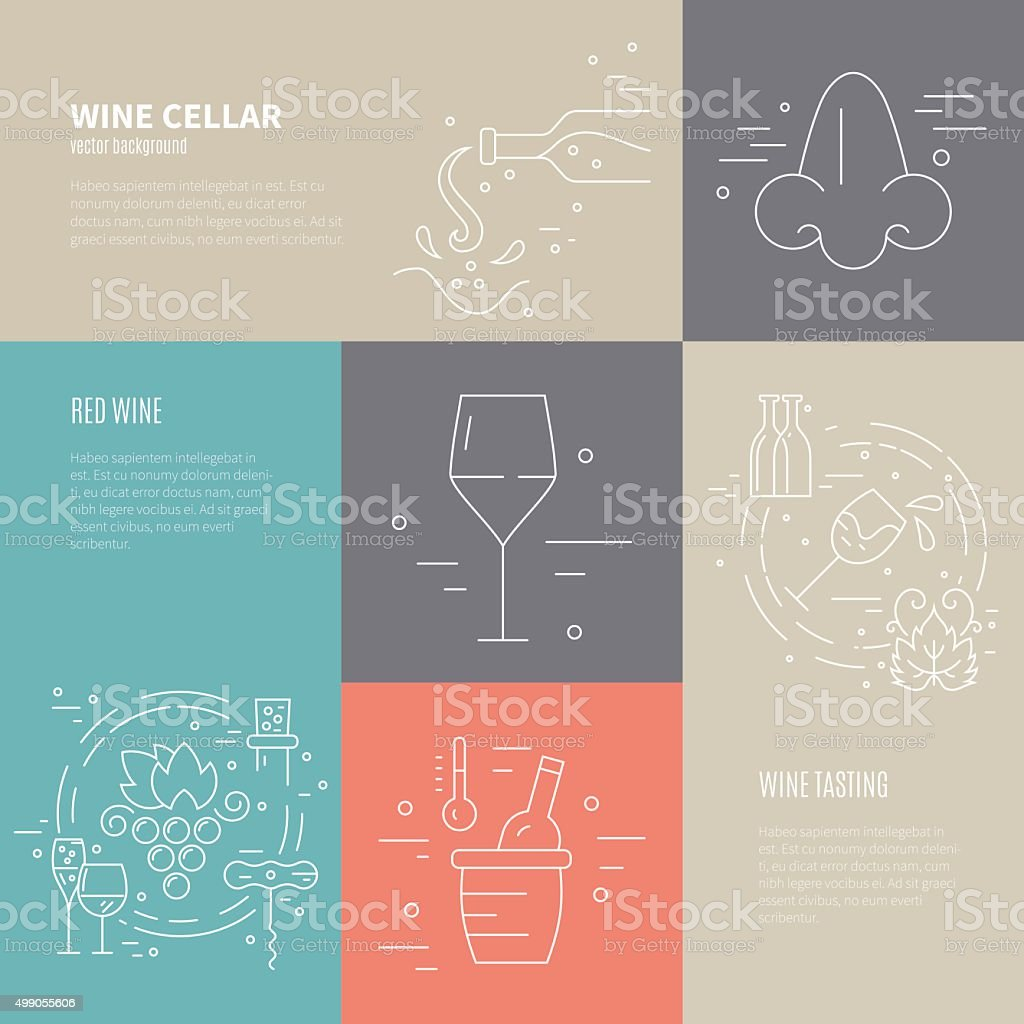 Wine Industry Banners vector art illustration