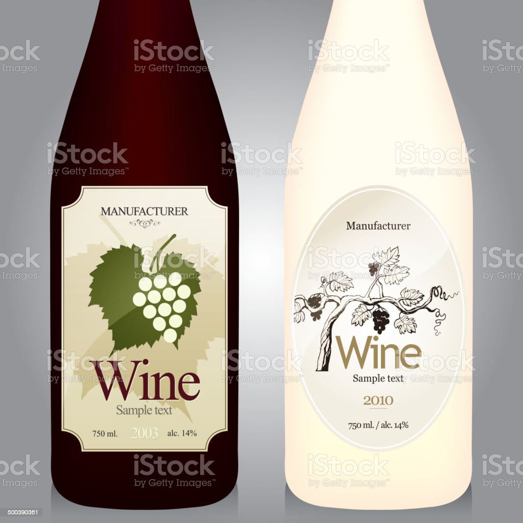 Wine Label Design Royalty Free Stock Vector Art