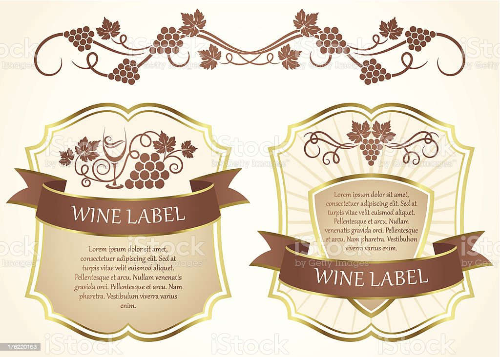 Wine label royalty-free stock vector art