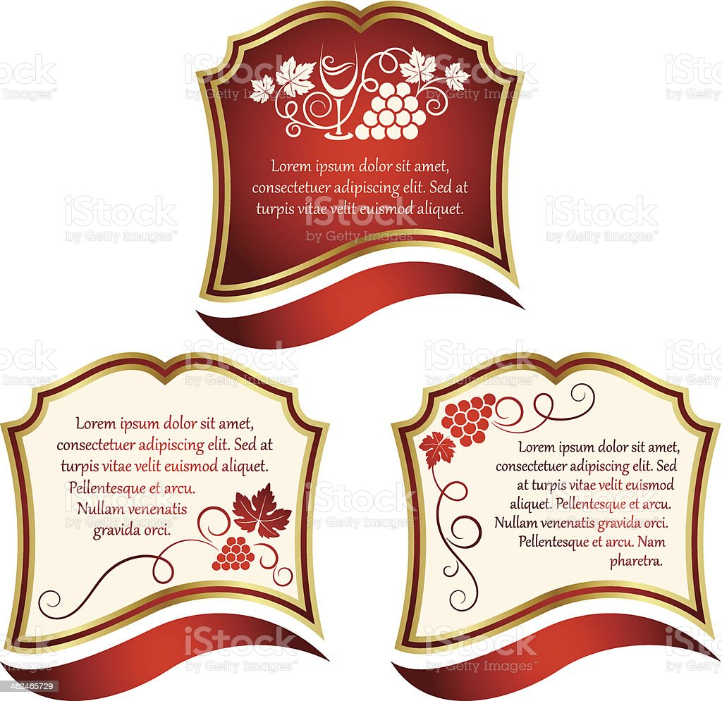 Wine label royalty-free stock vector art