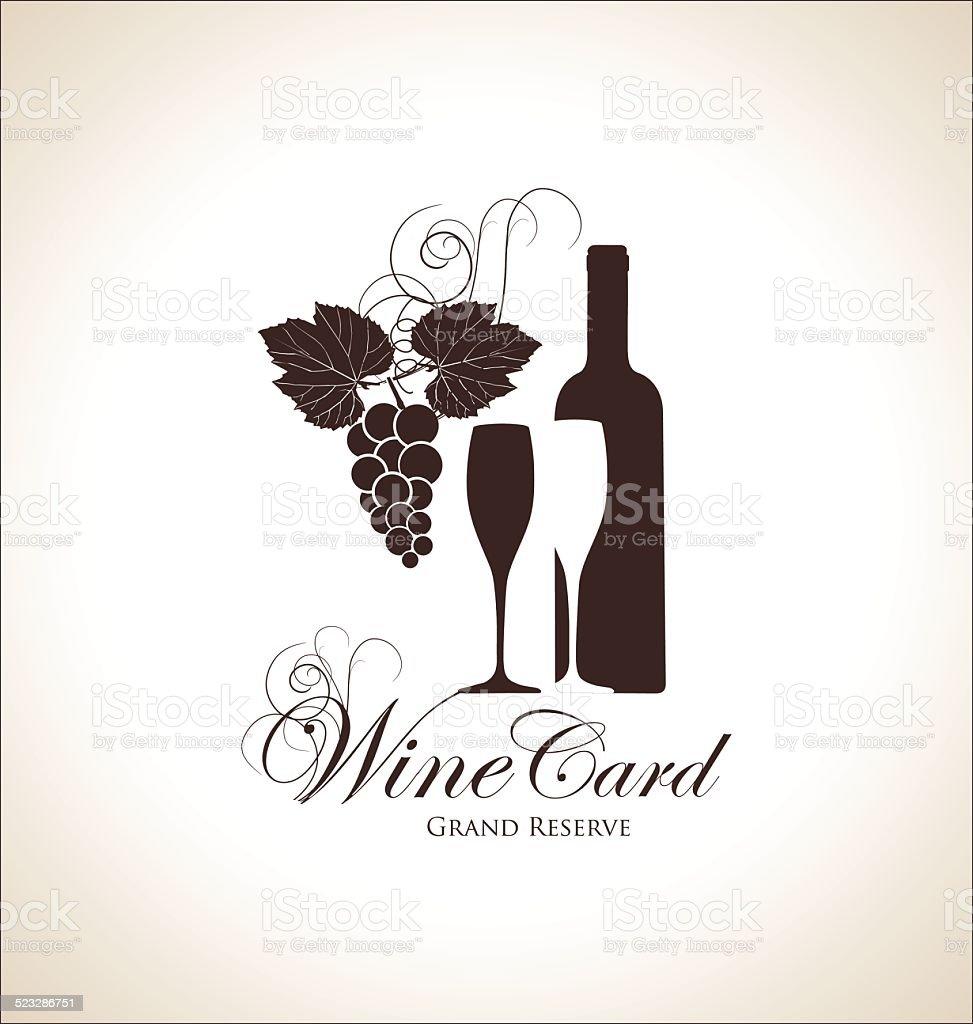 Wine label vector art illustration