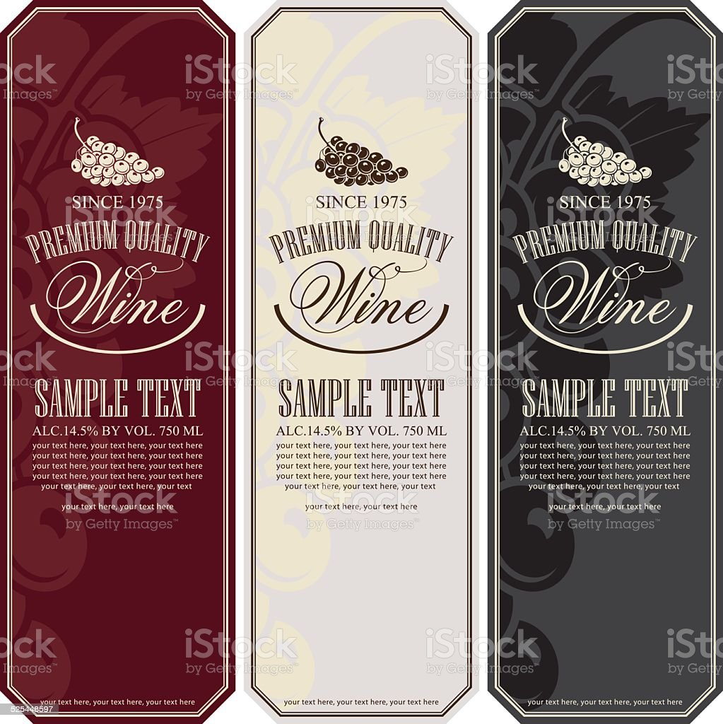Wine label vector art illustration