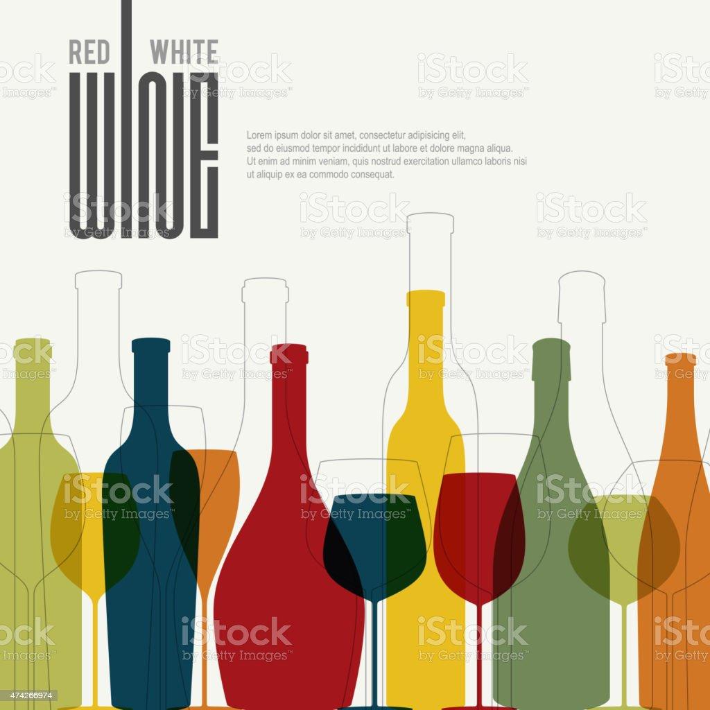 Wine list design vector art illustration