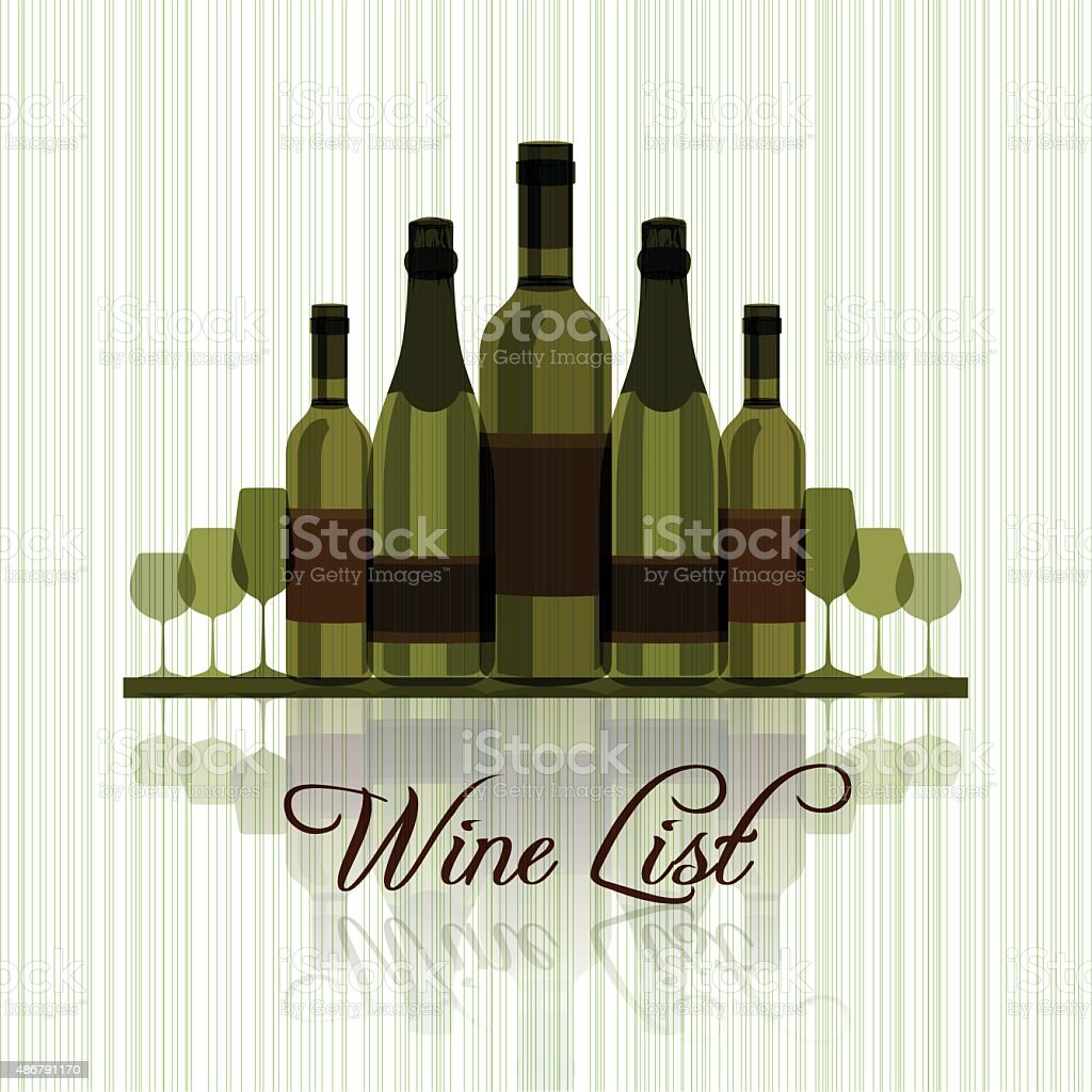 Wine list template vector art illustration