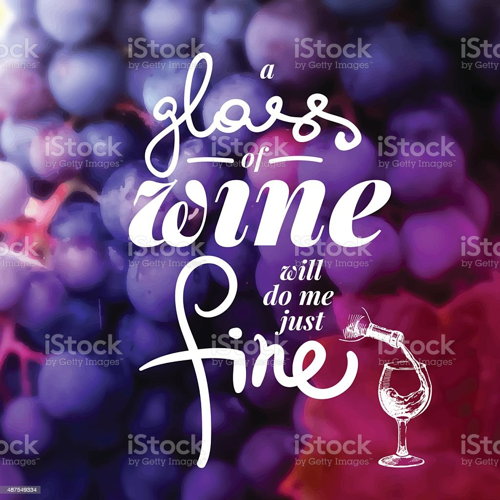 Wine list typographics. vector art illustration