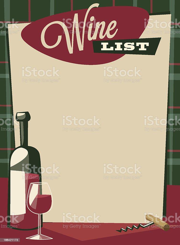 Wine list royalty-free stock vector art