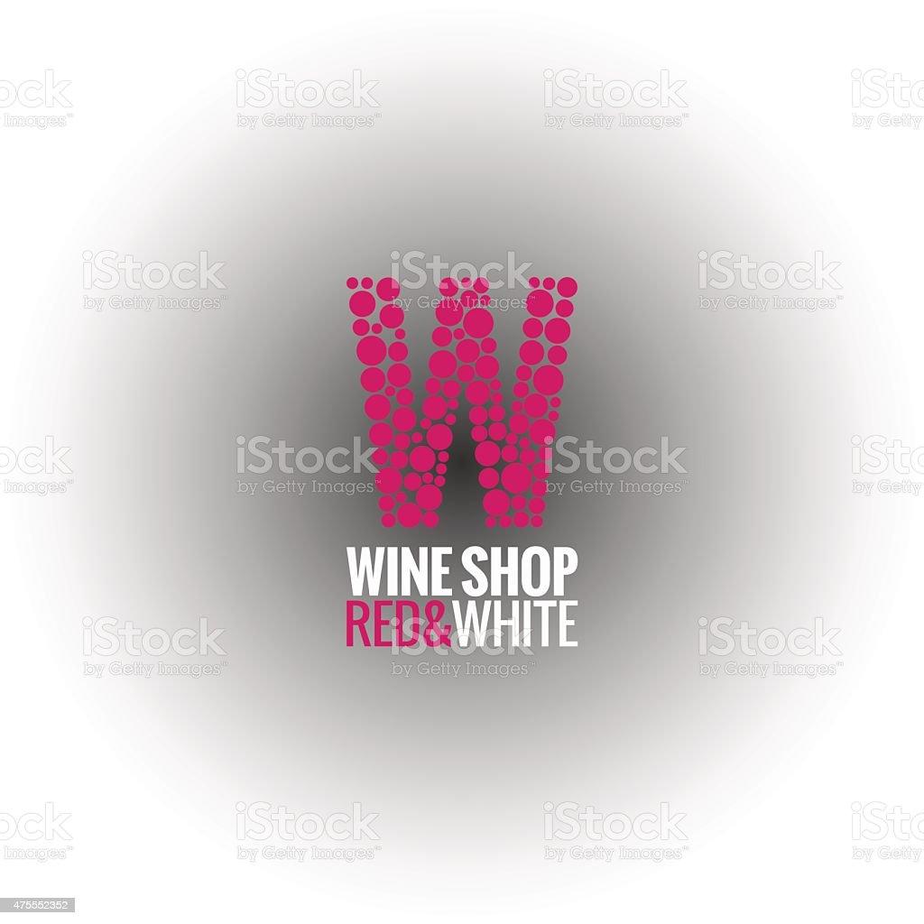 wine logo deign background vector art illustration