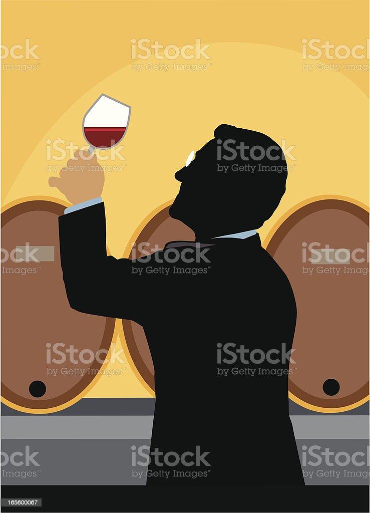 Wine Maker vector art illustration