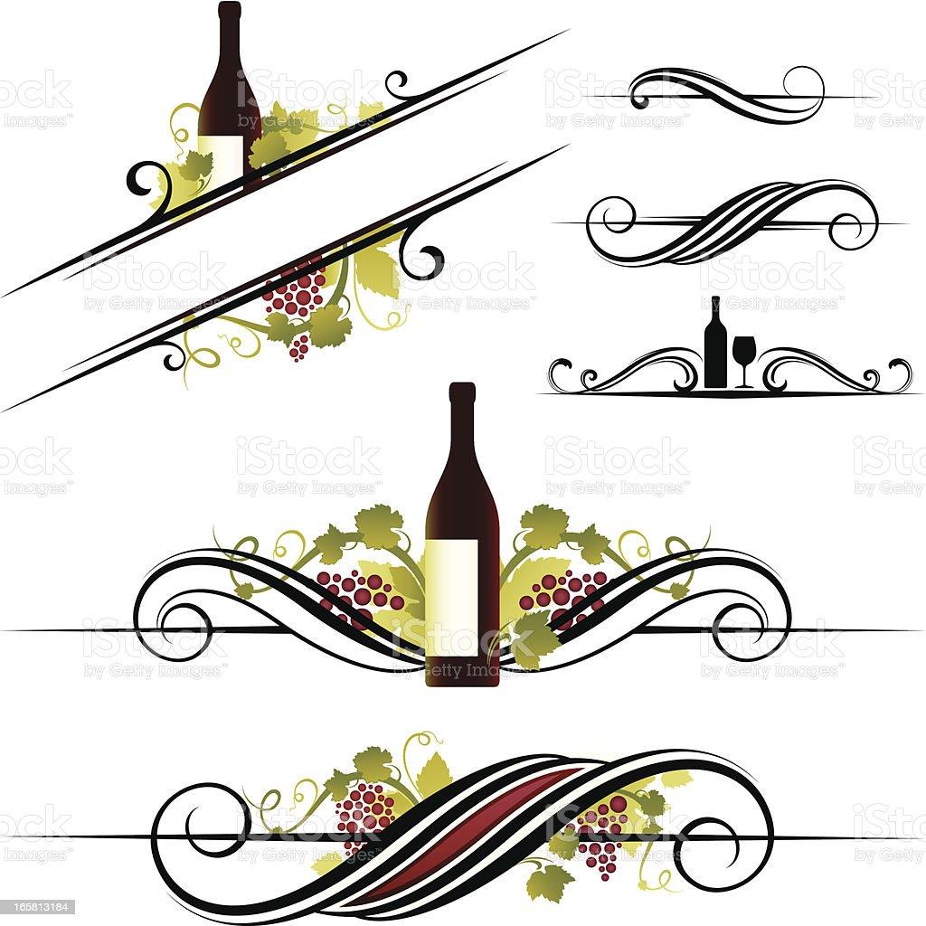 Wine motifs royalty-free stock vector art