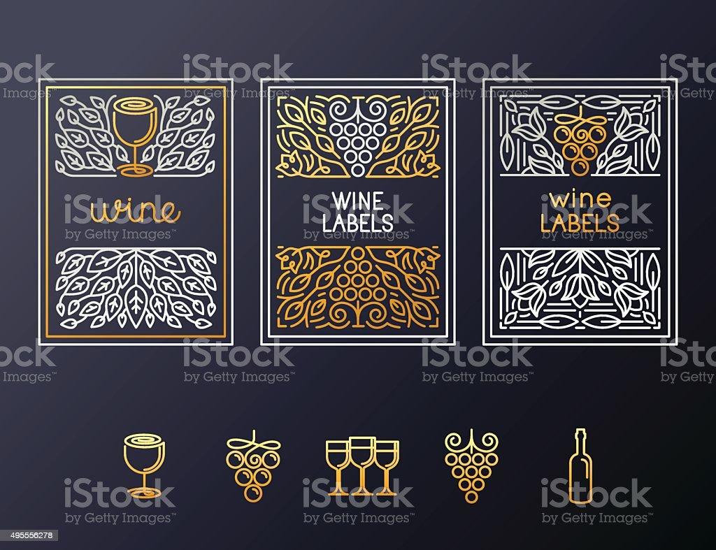 Wine packaging design template vector art illustration