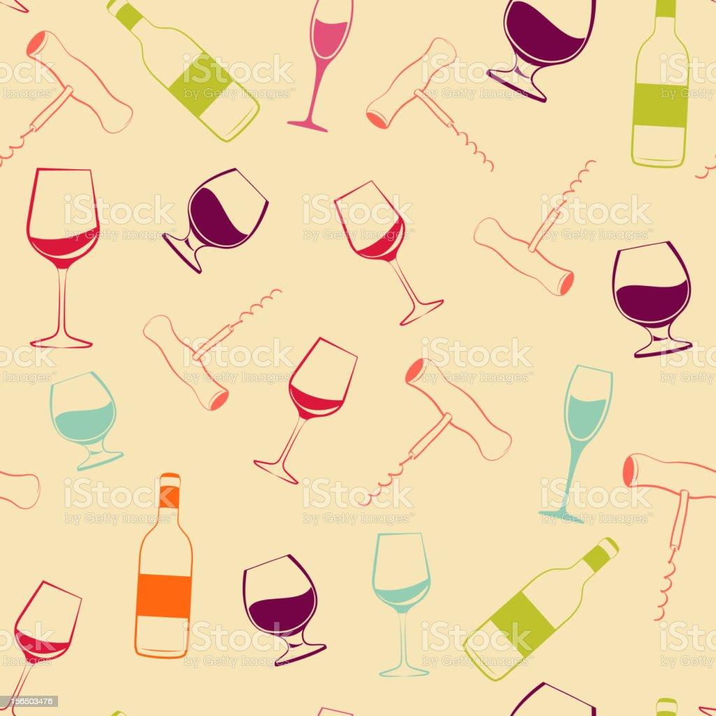 Wine pattern royalty-free stock vector art