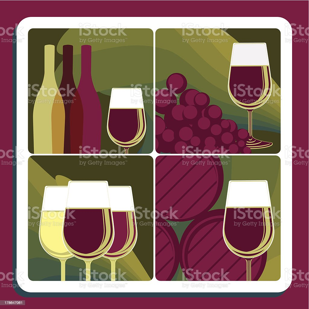Wine production royalty-free stock vector art