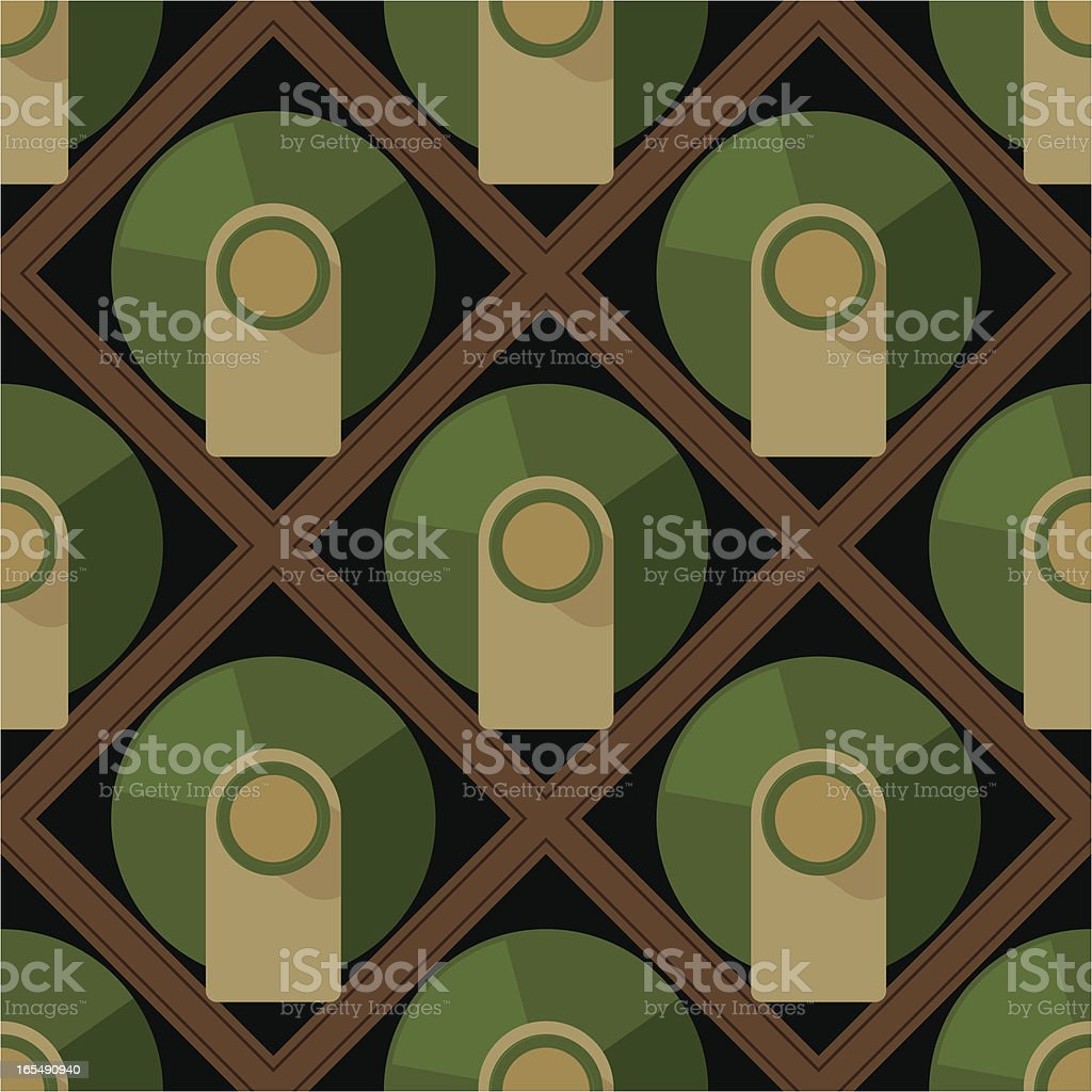 Wine Rack Storage Seamless Tile vector art illustration