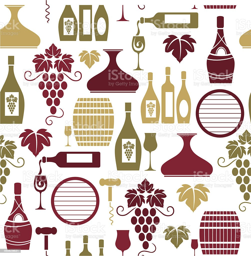 Wine Repeat Pattern royalty-free stock vector art