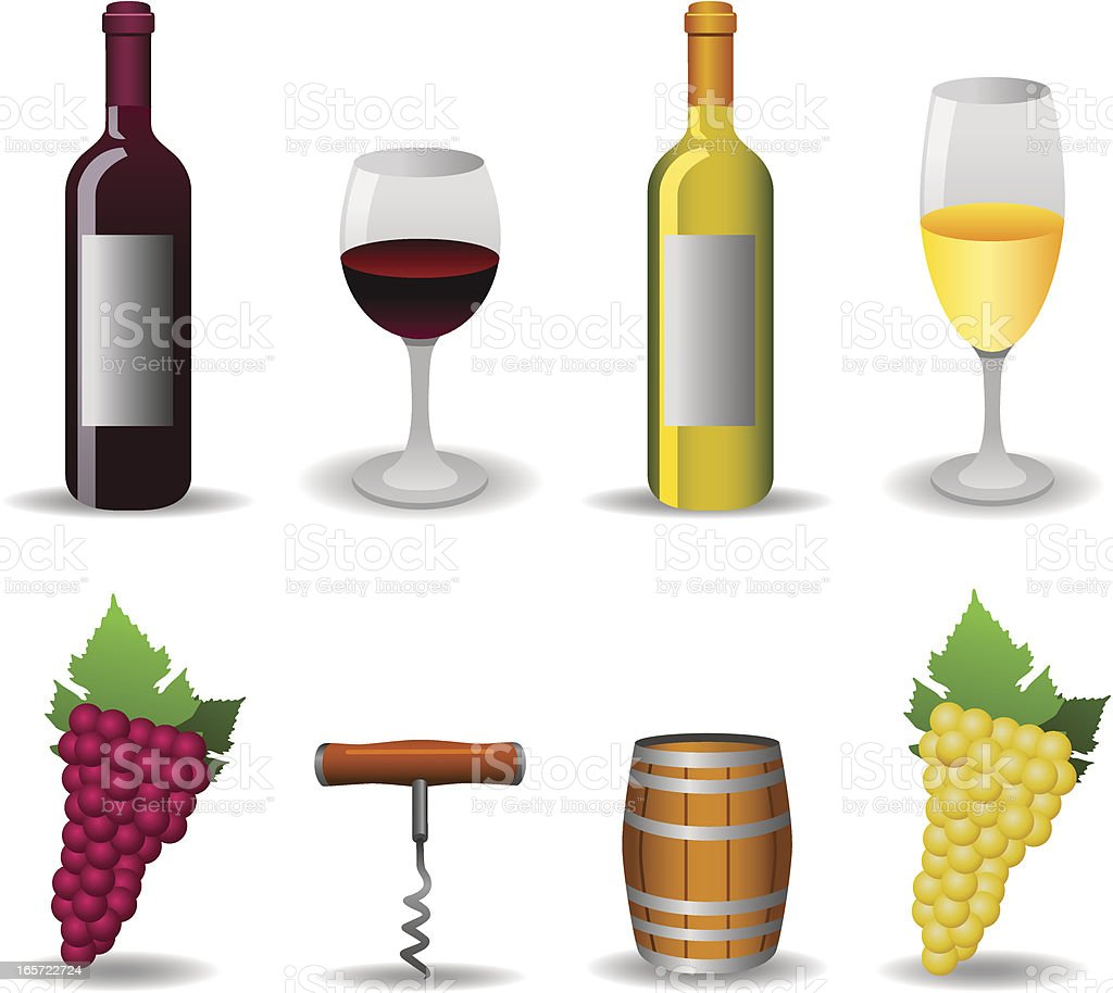 Wine Set vector art illustration