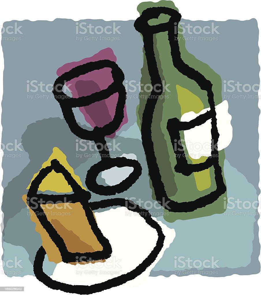 wine sketch royalty-free stock vector art