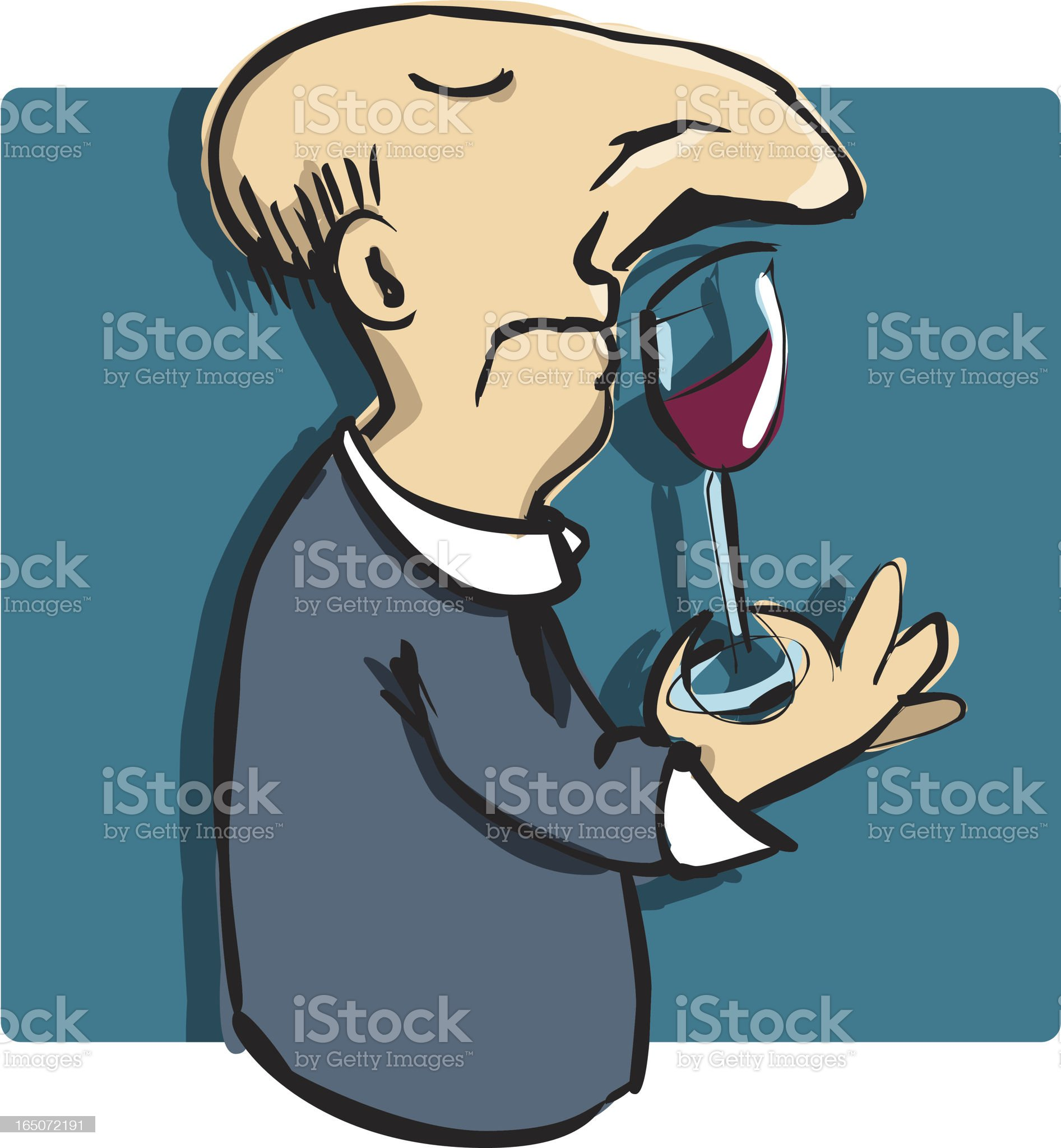 Wine Sniffer royalty-free stock vector art
