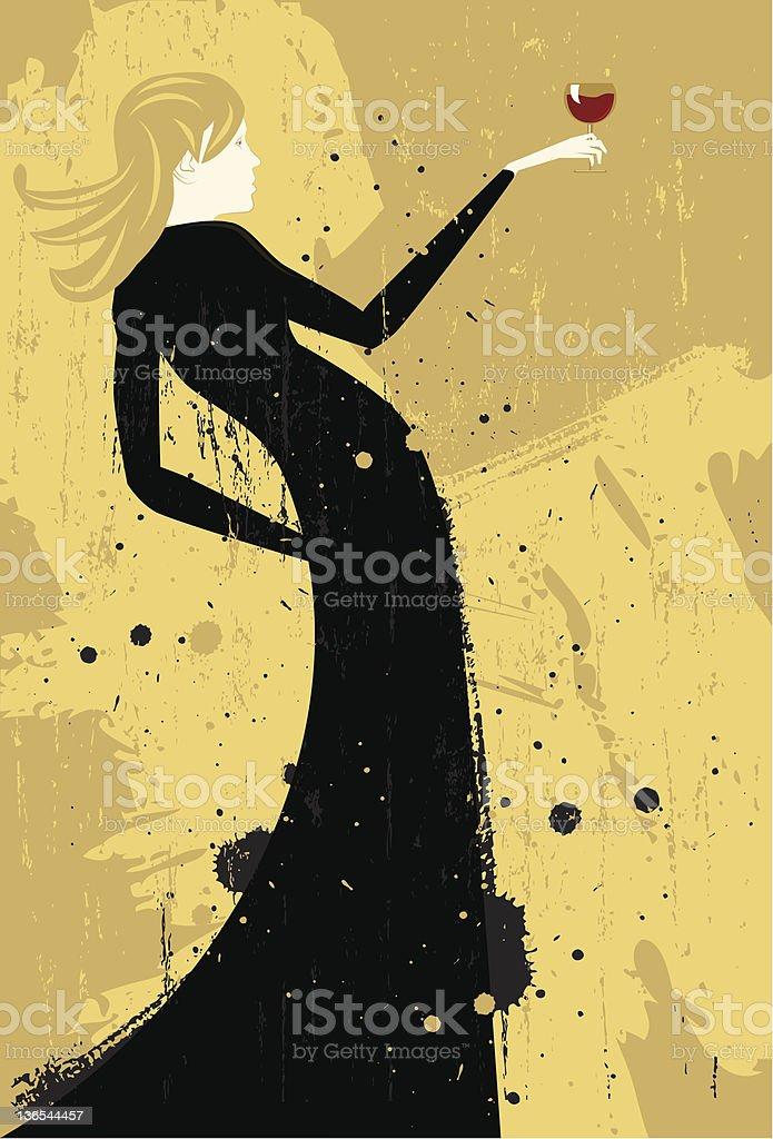 Wine tasting royalty-free stock vector art