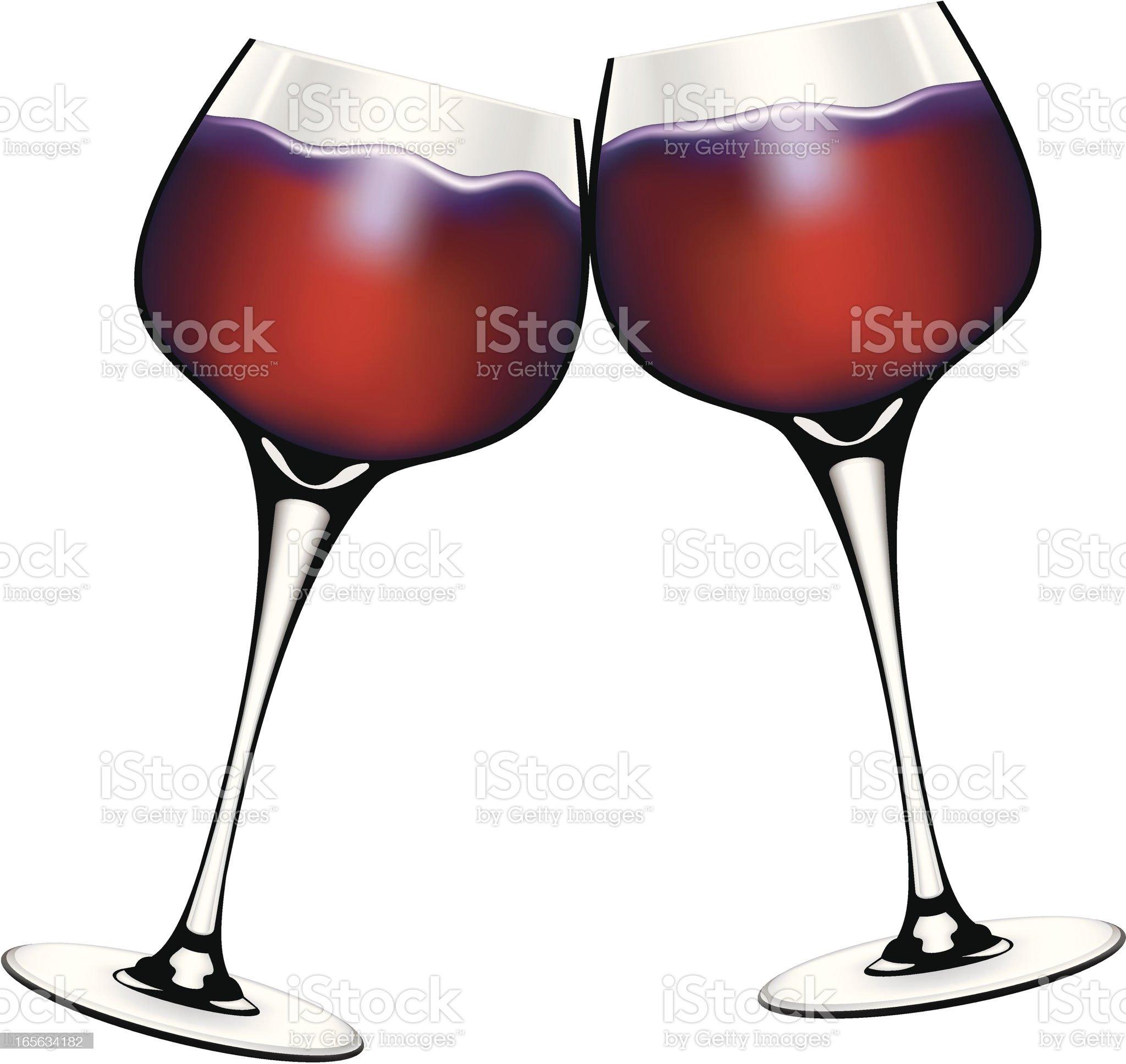 Wine Toast royalty-free stock vector art