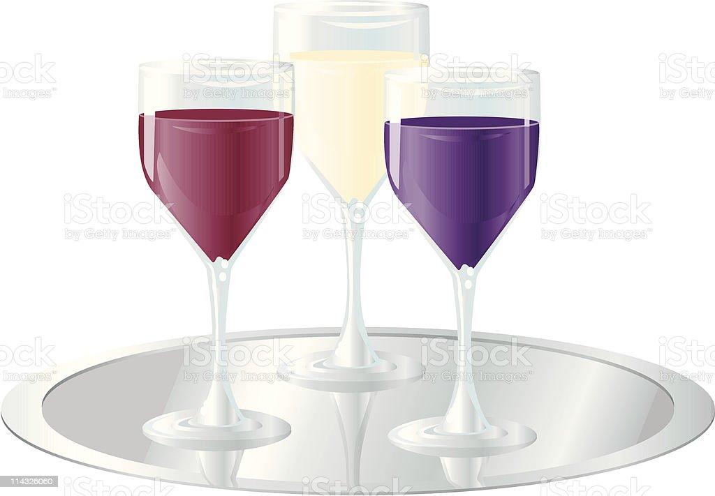 Wine Trio royalty-free stock vector art