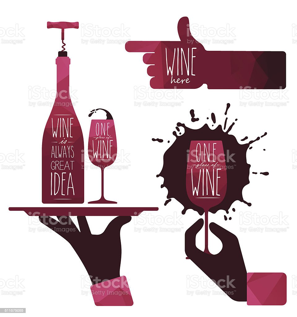 Wine vector art illustration