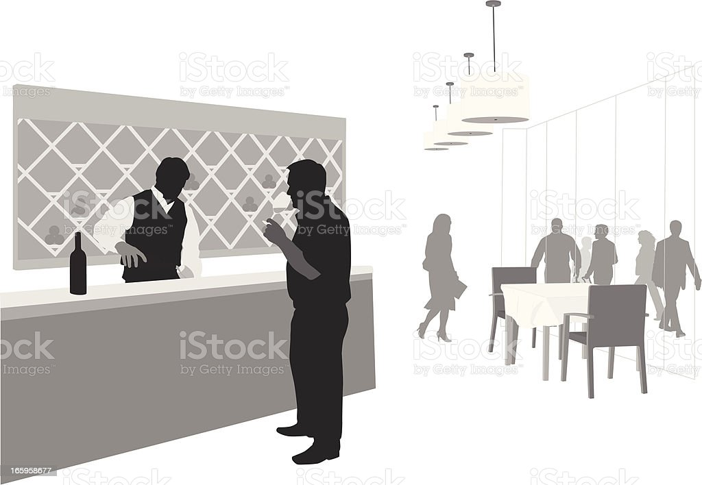 Wine Vector Silhouette vector art illustration