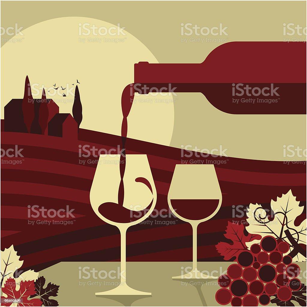 wine,glass bottle vino vin vineyard grape,winemaking vector art illustration