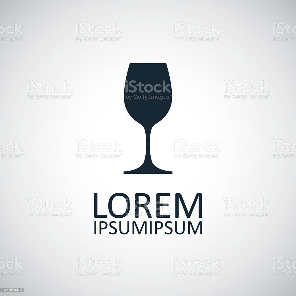 wineglass icon vector art illustration