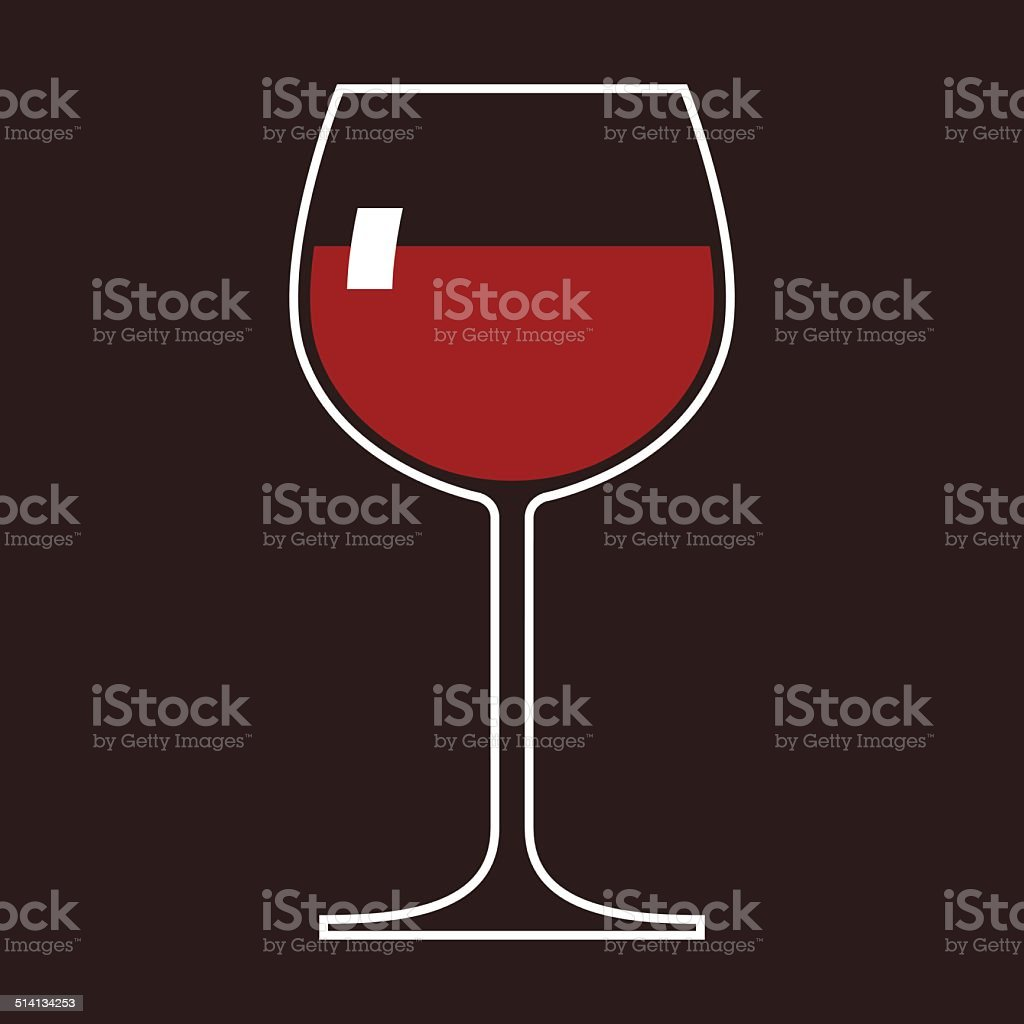 Wineglass vector art illustration