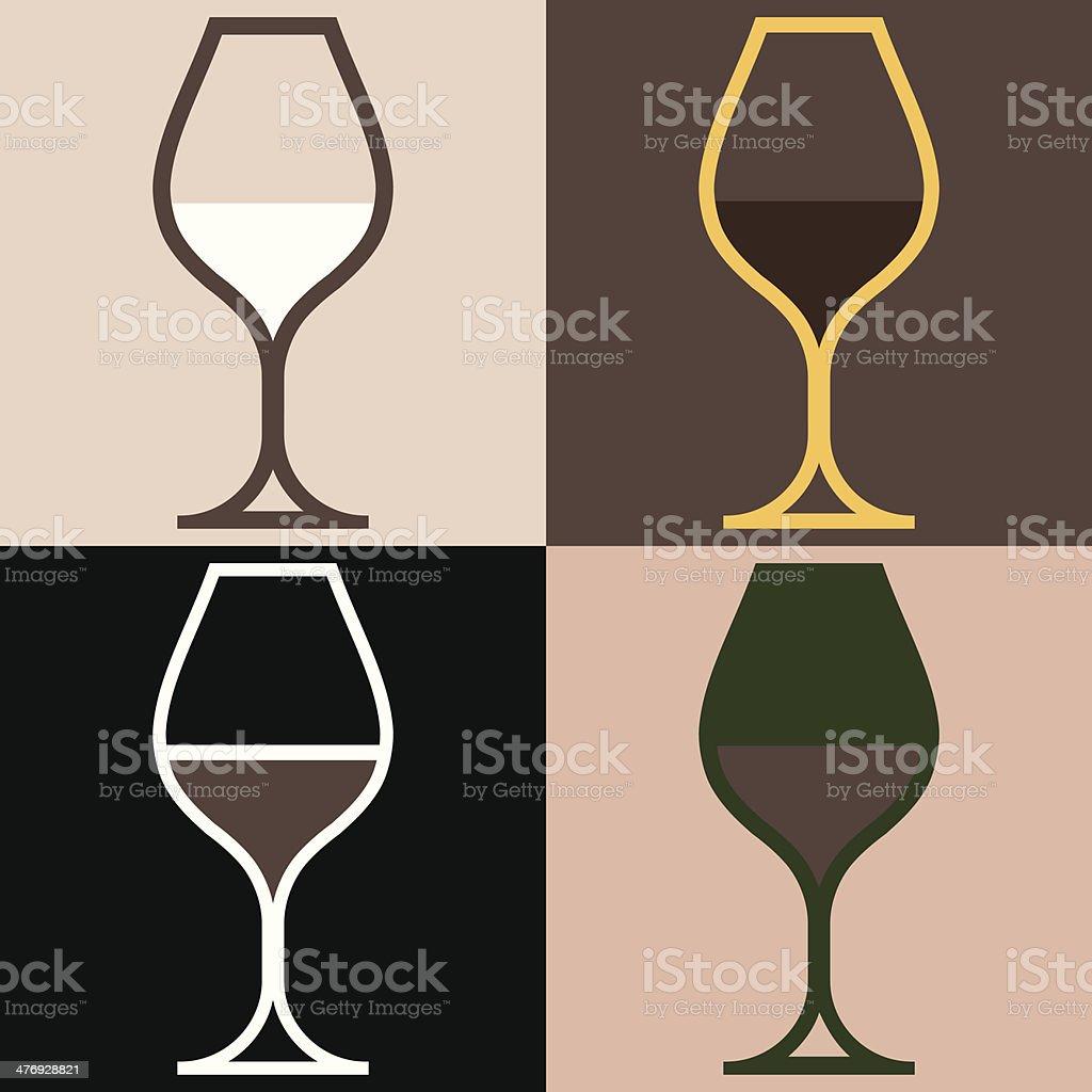 WineGlassVariations vector art illustration