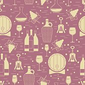 Winemaking design element on maroon background